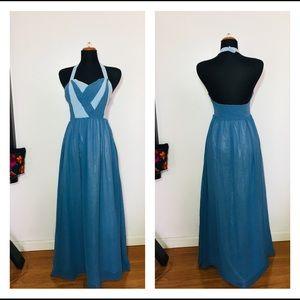 Geade Modecloth Gown Dress Halter Small